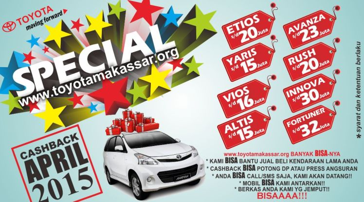 PROMO TOYOTA MAKASSAR APRIL 2015